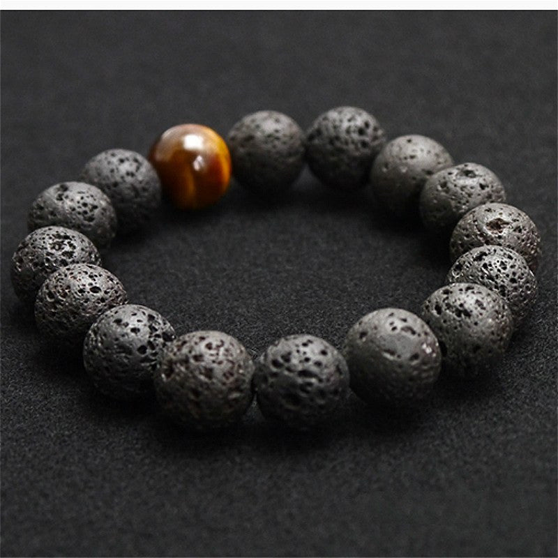 stoneriverjewelry and rock blue bracelet volcano ghana bracelets beaded mens lava river products black stone by bead