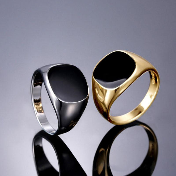 Gemma Nera Ring-Gold - Posh Men Club