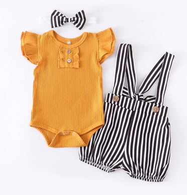 225 Mustard stripe Set
