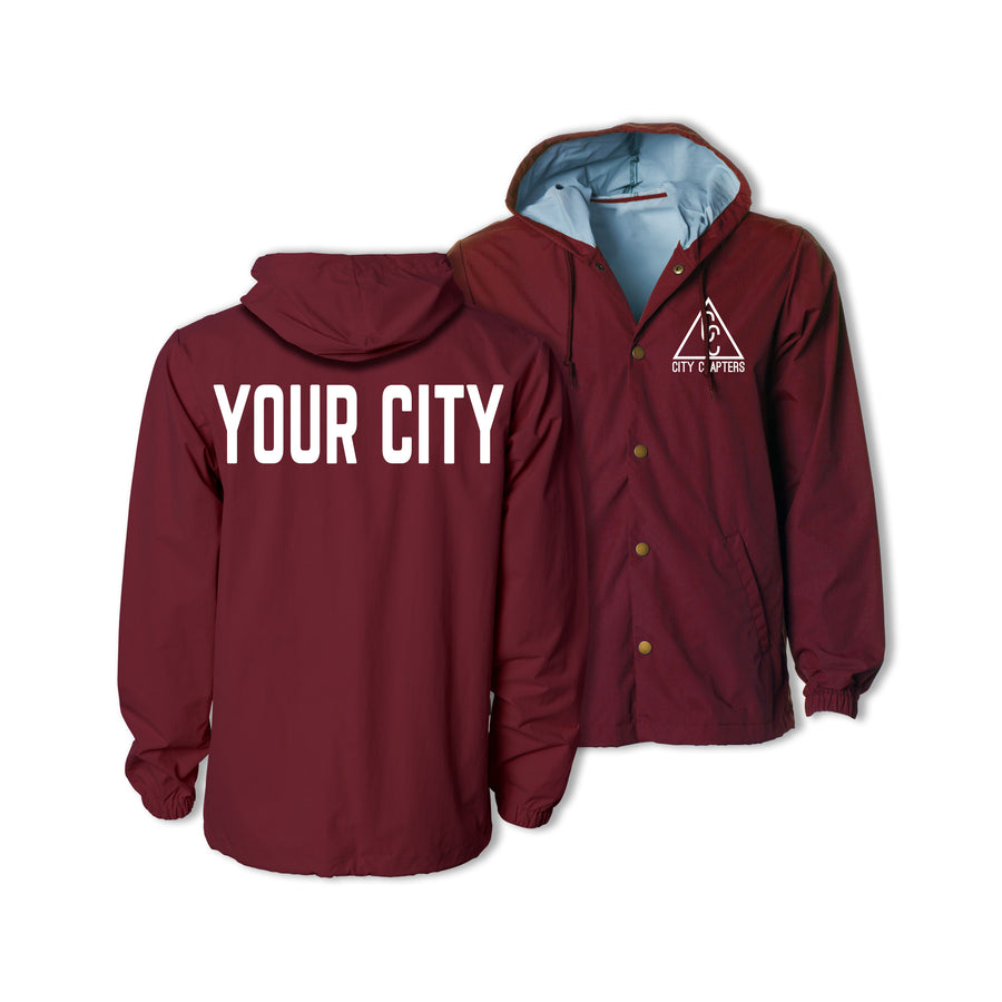 HOODED CITY JACKET - CARDINAL