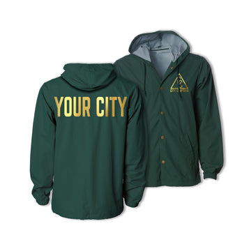HOODED CITY JACKET - FOREST