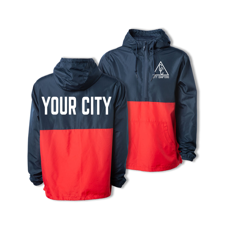 ULTRALIGHT CITY ANORAK - NAVY/RED