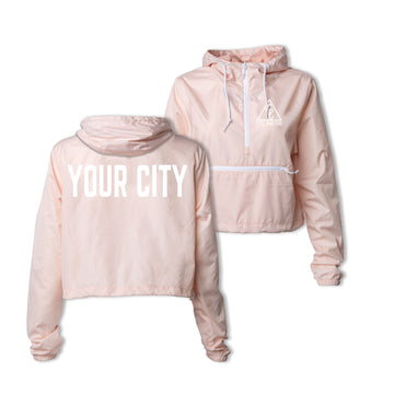LADIES CROPPED CITY ANORAK - BLUSH