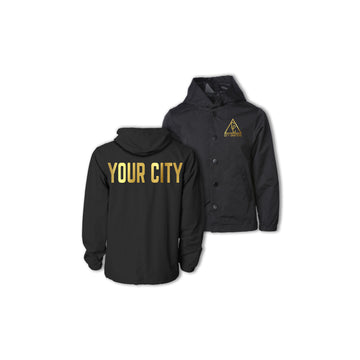 YOUTH HOODED CITY JACKET - BLACK