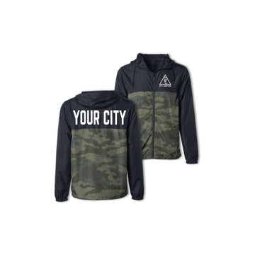 YOUTH ULTRALIGHT CITY JACKET - BLACK/CAMO