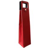 Red leather wine carrier