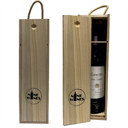 Wooden box single wine carrier