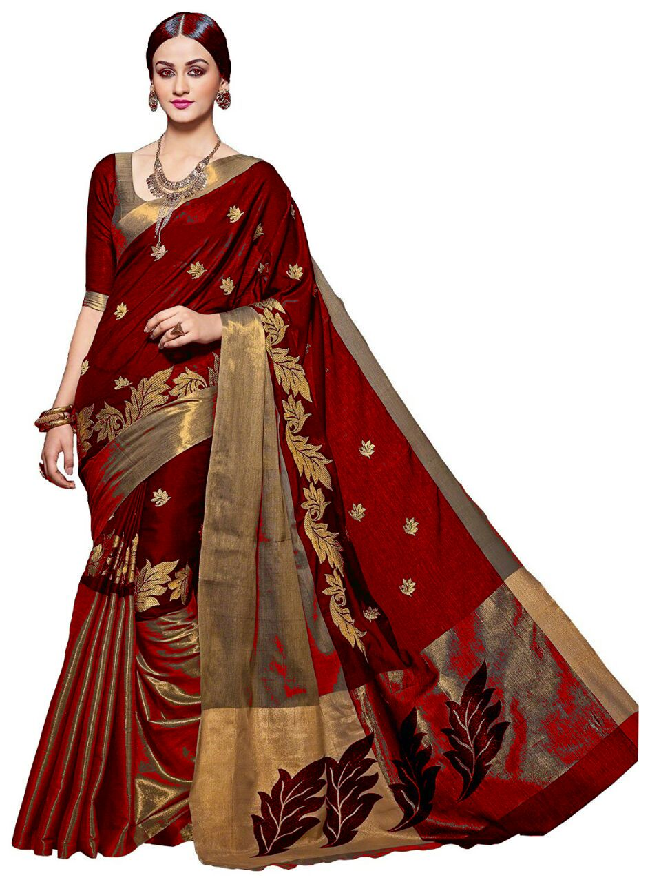 6be37681d4 red color cotton silk saree – z fashion