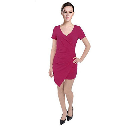 Short Sleeve Wrapped Bodycon Dress *Plus - MillionDollarGurl.Com
