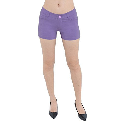 Low Rise Color Stretchy Shorts - MillionDollarGurl.Com
