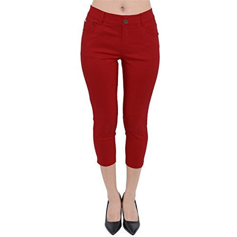 Capri Pull On Jeggings *Plus - MillionDollarGurl.Com
