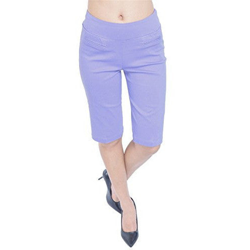 Comfort Fit Pull-On Bermuda Shorts *Plus - MillionDollarGurl.Com