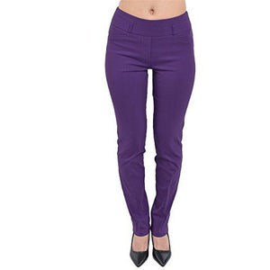 Comfort Fit Straight Leg Smart Business Pants *Plus - MillionDollarGurl.Com