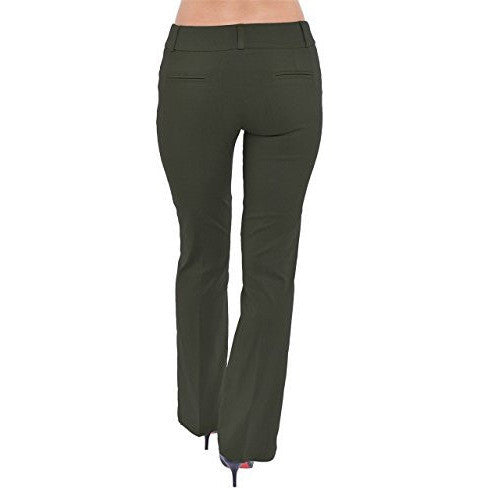 Bootcut Stretch Pants,Short-Standard-Tall *Plus - MillionDollarGurl.Com