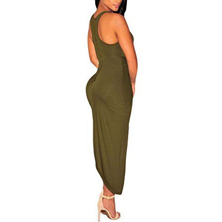 Knotted Front Slit Mini Dress - MillionDollarGurl.Com