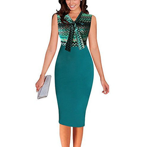 Elegant V Neck Bodycon Work Cocktail Casual Party Dress *Plus - MillionDollarGurl.Com