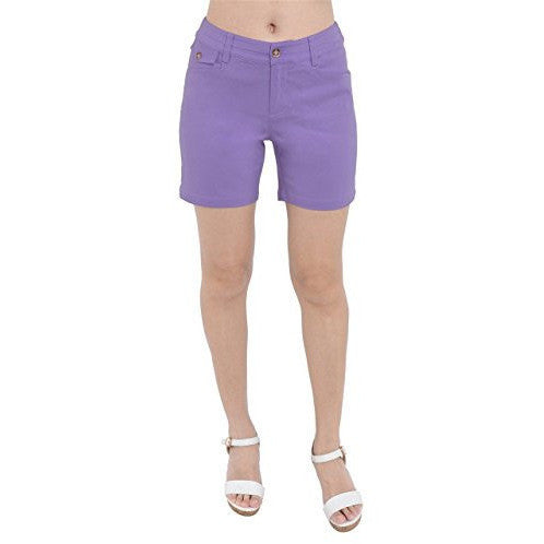 Fitted Bermuda Shorts With Front Pockets *Plus - MillionDollarGurl.Com