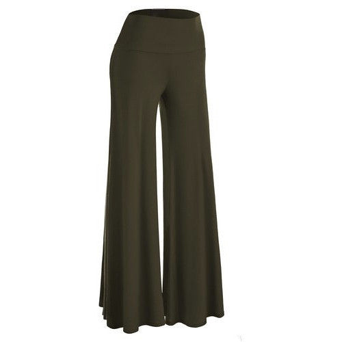 \Comfy Chic Solid Color Palazzo Pants *Plus - MillionDollarGurl.Com