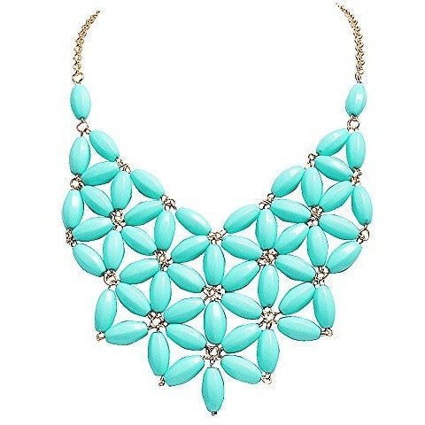 Tessellate Net Statement Necklaces - MillionDollarGurl.Com
