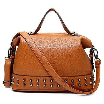 PU Leather Casual Crossbody Satchel Purse - MillionDollarGurl.Com