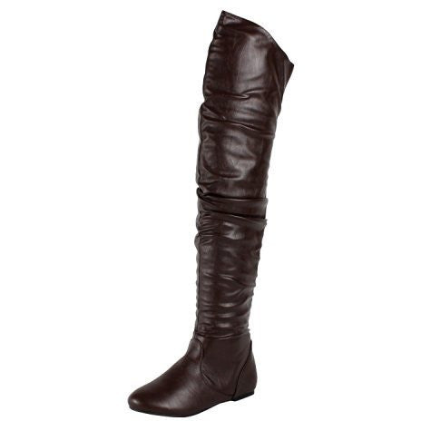 Faux Slouchy Thigh High Boots - MillionDollarGurl.Com