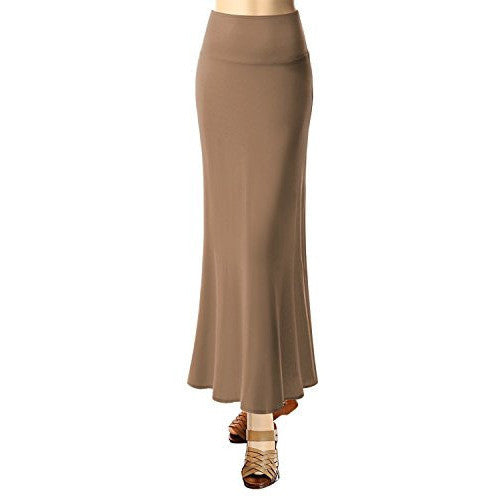 Solid Flared Maxi Skirt *Plus - MillionDollarGurl.Com