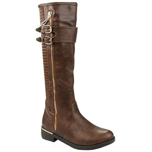 Knee High Flat Riding Boots - MillionDollarGurl.Com