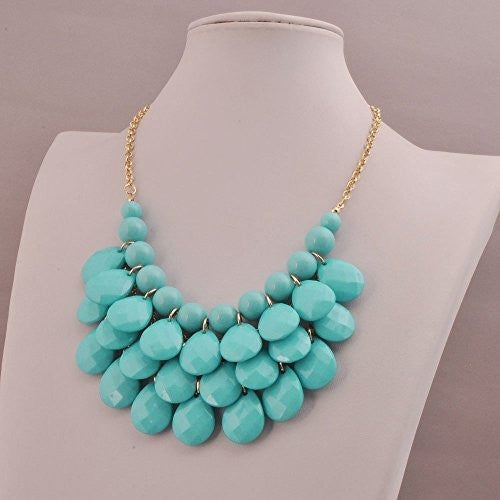 Drop Shape Statement Necklace - MillionDollarGurl.Com
