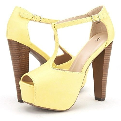 Peep Toe High Heel Lace-Up Platform Pumps - MillionDollarGurl.Com