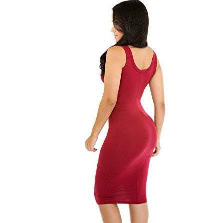 Sexy Sleeveless Stretch Bodycon Dress - MillionDollarGurl.Com