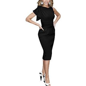 Elegant Ruched Wear to Work Party Bodycon Dress *Plus - MillionDollarGurl.Com