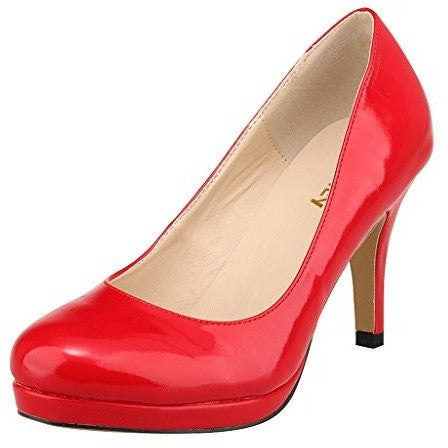 Professional Close Toe Platform Pump Ladies Stiletto Heel - MillionDollarGurl.Com