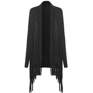 Long Sleeve Cardigan with Fringe - MillionDollarGurl.Com