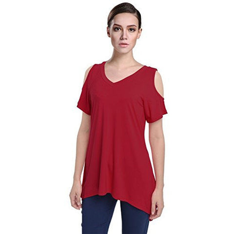 Loose Fit Cut Out Shoulder Top *Plus - MillionDollarGurl.Com