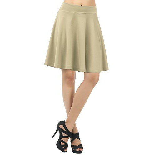 Comfortable Solid Color Versatile Pleated Flare Skirt *Plus - MillionDollarGurl.Com