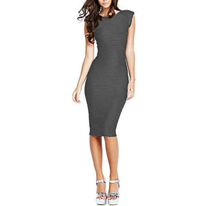 Bodycon U-Neck Work Dress *Plus - MillionDollarGurl.Com