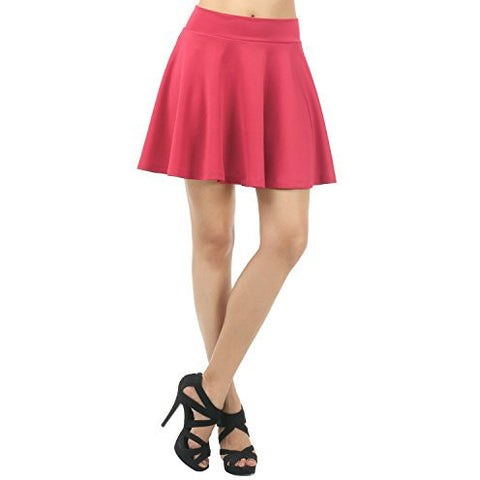 Comfortable Solid Color Versatile Pleated Mini Flare Skirt *Plus - MillionDollarGurl.Com