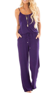 *SALE* U-Neck Wide Leg Pockets Jumpsuit *Plus