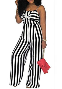 *SALE* Spaghetti Strap Striped Jumpsuits *Plus