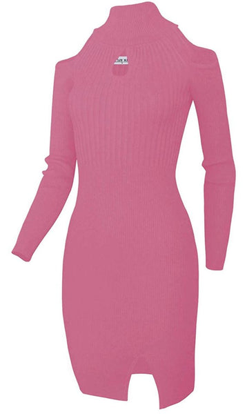 Front Keyhole Sweater Dress *Plus