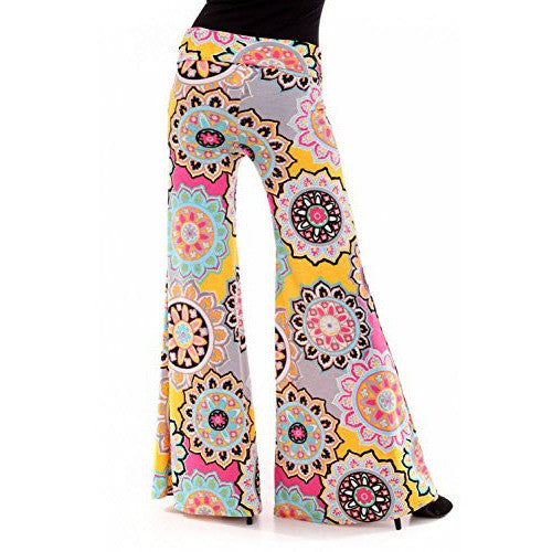 Printed Two Tone Printed Palazzo Pants *Plus - MillionDollarGurl.Com