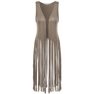 Sleeveless Cardigan with Fringe - MillionDollarGurl.Com
