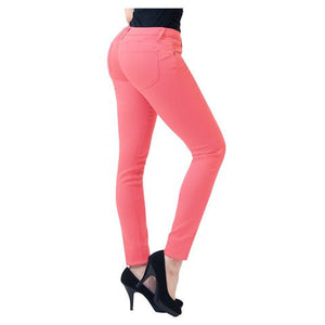 Bum Lift Super Comfy Stretch Denim Color Jeans *Plus - MillionDollarGurl.Com