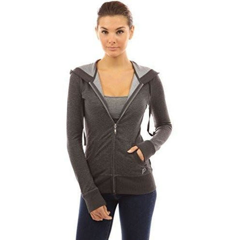 Hoodie Pocket Zip Up Jacket - MillionDollarGurl.Com