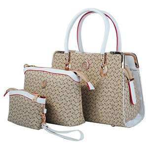 Deluxe Women 3 Piece Tote Bag,Leather Handbag Purse Bag Set - MillionDollarGurl.Com
