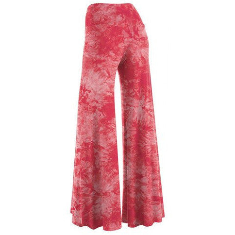 Comfy Chic Solid Tie-Dye Palazzo Pants *Plus - MillionDollarGurl.Com