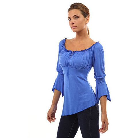 High-Low Hem 3/4 Sleeve Top - MillionDollarGurl.Com