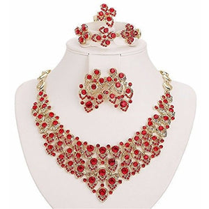 18K Gold Plated Zircon Scarf Pattern Jewelry Set - MillionDollarGurl.Com