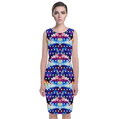 Tribal Classic Sleeveless Midi Dress *Plus - MillionDollarGurl.Com