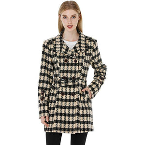 Double Breasted Pea Coat With Belt - MillionDollarGurl.Com